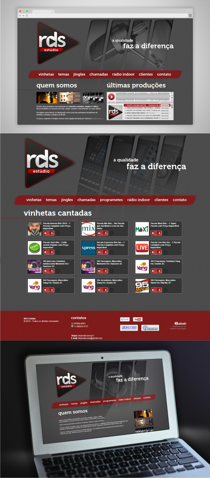 WebSite Estúdio RDS